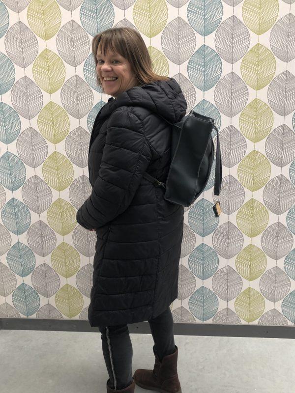 Model leren shopper en rugtas -tas van sas