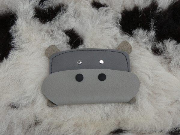dierenportemonnee nijlpaard grijs , tas van sas