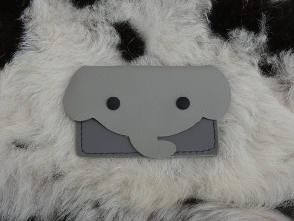 dierenportemonnee olifant grijs , tas van sas