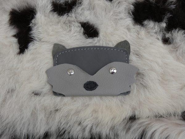 dierenportemonnee vos grijs , tas van sas