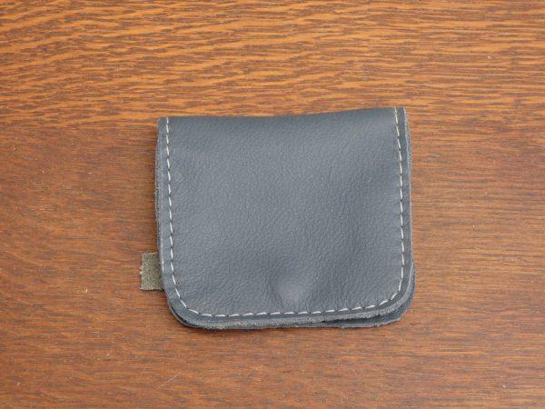 Portemonnee Coin, blauw,handgemaakt van leer , tas van sas