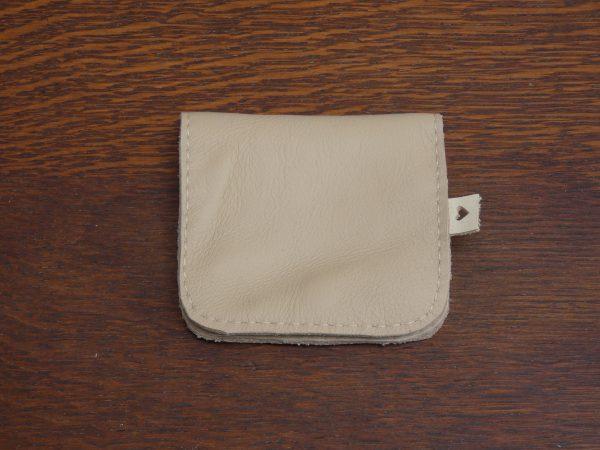 Portemonnee Coin, handgemaakt van leer , tas van sas, beige