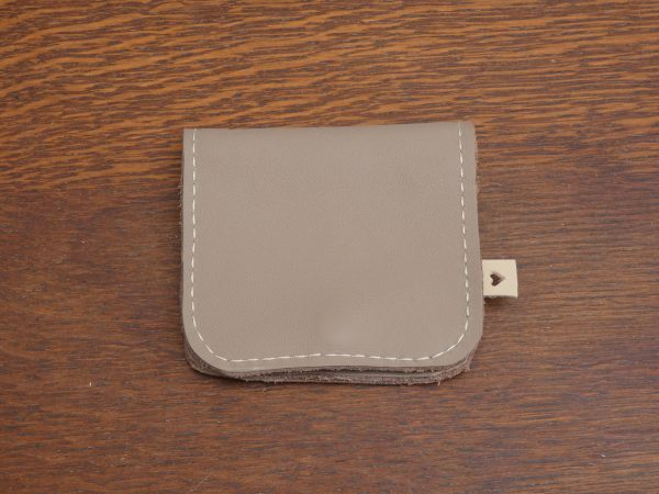 Portemonnee Coin, beige,handgemaakt van leer , tas van sas