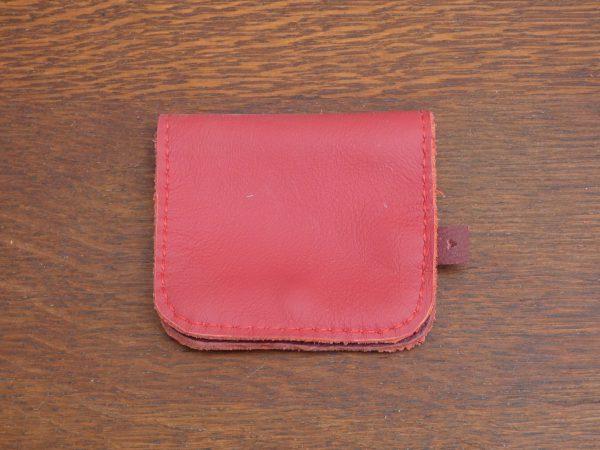Portemonnee Coin, handgemaakt van leer , tas van sas,rood